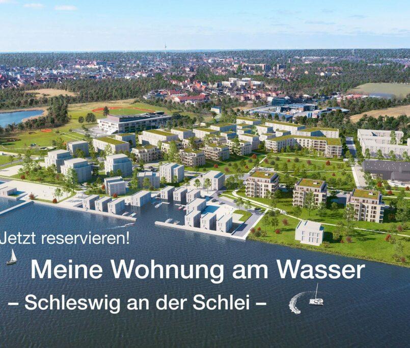 Wohprojekt am Waser mit Hafen in Schleswig
